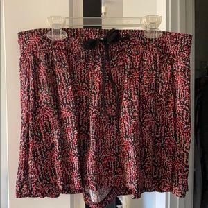 Drawstring Floral Shorts